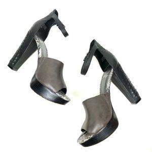 Elliot Luca Leather Platform Braided Heel Sandals